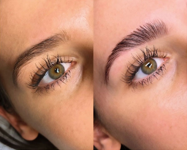 eyebrow treatment done in Lady Red Lash beauty studio